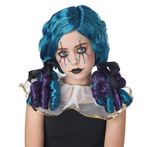Clowny Kid Curls Child Wig Halloween Theme