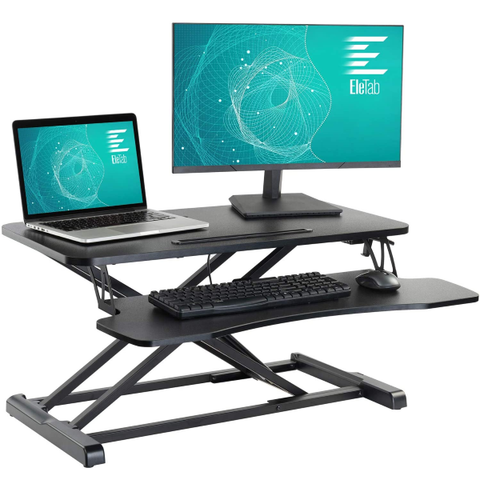 Standing Desk Converter Sit Stand Desk Riser Stand up Desk Tabletop fits Dual Monitor