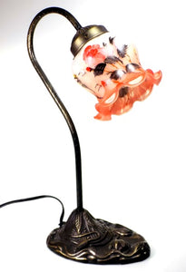 Home Decor | Flower Lamp Art Glass and Bronze Base