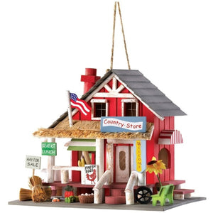 Rustic Old Time Country Store Wooden Bird House