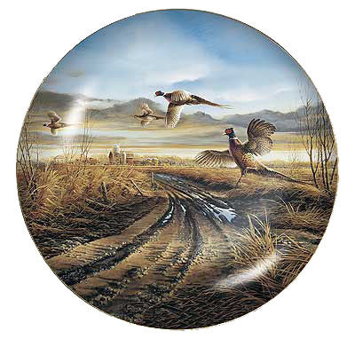 Collector Plates | Country Road Pheasants Collector Plate by Terry Redlin