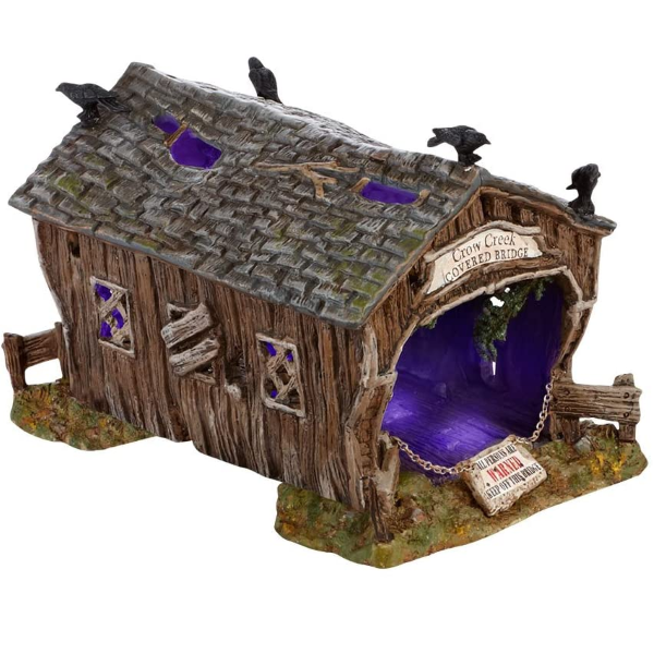 Department 56 Accessories for Villages Halloween Crow Creek Covered Bridge Accessory Figurine