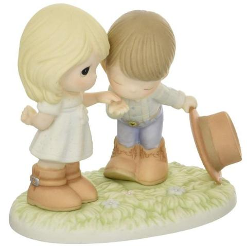 Precious Moments Precious Moments Would You Be My Pardner Bisque Porcelain Figurine