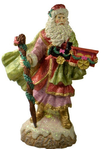 Holiday | Christmas Santa Claus with Train Figurine