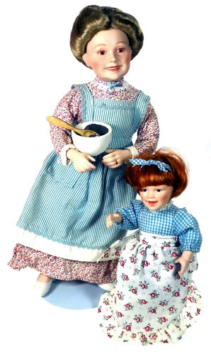 Danbury Mint Dolls Is It Sweet Enough? Mother and Child Baking available at One Great Shop