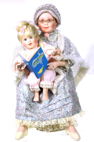Danbury Mint Dolls Once Upon A Time Grandma and Child available at One Great Shop
