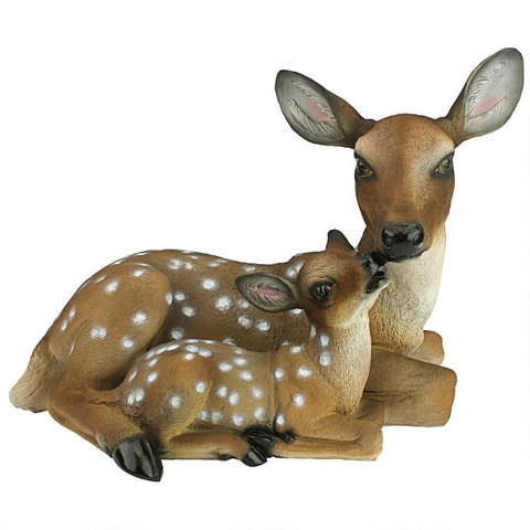 Deer Statue Yard Garden Decorations | Adorable Doe & Fawn