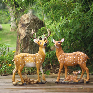 Garden Animal Statue - for Garden, Figurine Ornaments Decorations Deer Family
