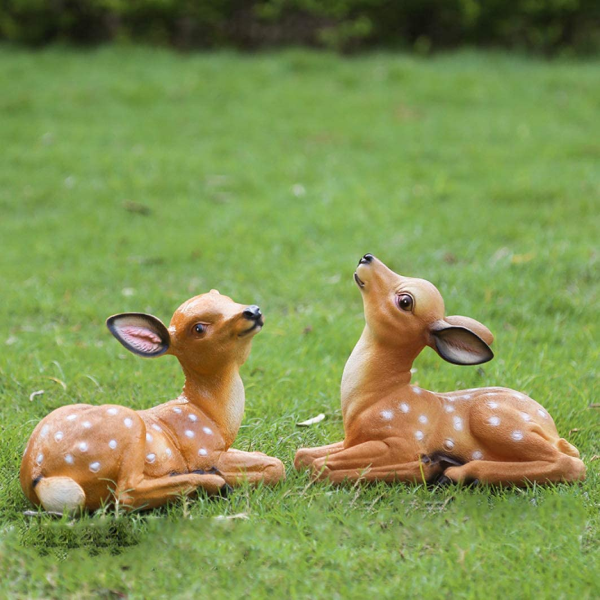 Deer Garden Statue Yard Ornament Lawn Outdoor Patio Decoration