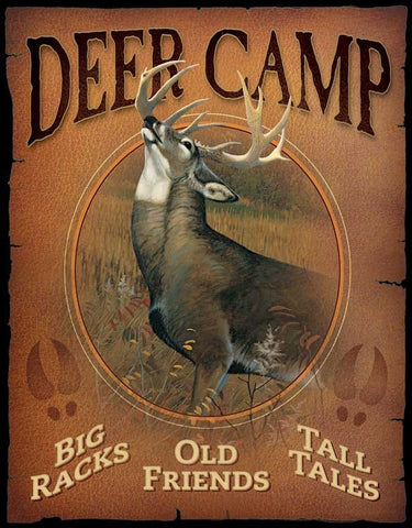 Tin Sign | Deer Camp Metal Tin Sign