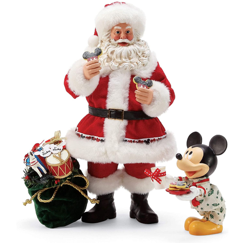 Department 56 Disney Mickey's Milk & Cookies for Santa by Possible Dreams Figurine