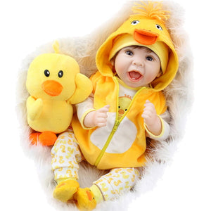 Baby Doll 22 Inch Realistic Lifelike Baby Doll Weighted Reborn Baby with Duck
