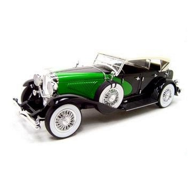 1934 Duesenberg Black and green 1:18 Scale Diecast Model