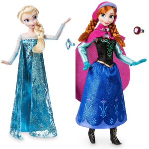 Disney Elsa and Anna Classic Doll with Ring from the Movie Frozen