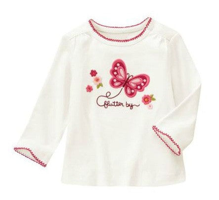 Baby Clothes | Gymboree Butterfly Shirt For Baby Girl 3-6 Months