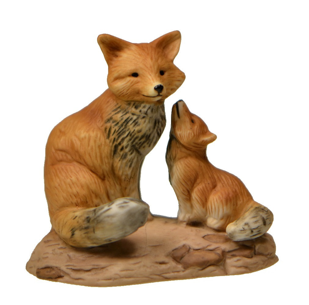 Figurine Mother And Baby Fox Figurine One Great Shop