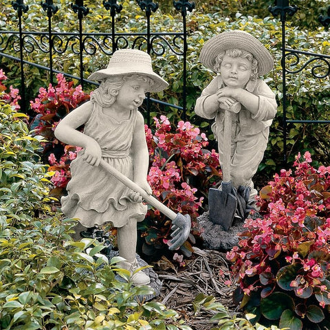Young Gardeners Sculpture | Children Statues
