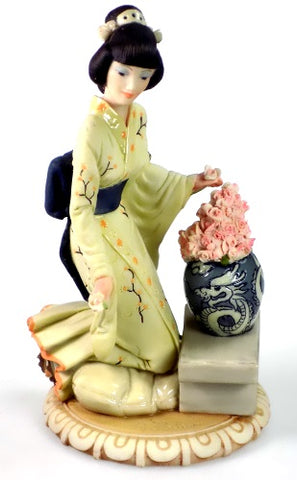 Figurines | Asian Woman and Vase Dear Capodimonte Sculpture Figurine Auro Belcari