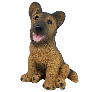German Shepherd Puppy Dog Statue Figurine