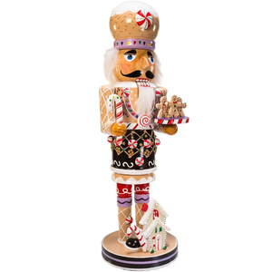 16-Inch Wooden Gingerbread Christmas Nutcracker