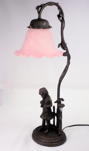 Home Decor | Table Lamp Girl with Kitten