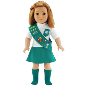Doll Clothes | 18 Inch Doll Junior Girl Scout Outfit for American Girl Doll Clothes