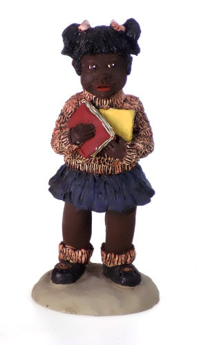 Collectibles | Black Americana Girl Carrying Books Figurine