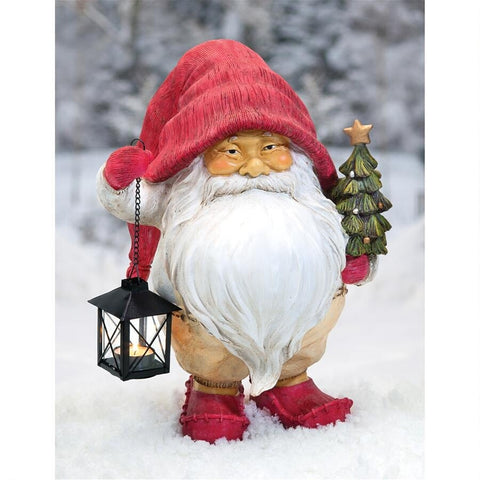 Holiday | Christmas Holiday Gnome Statue