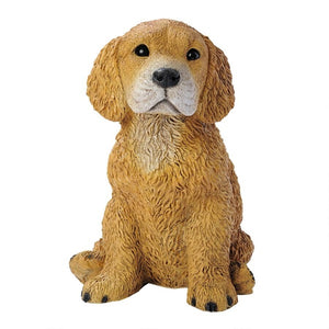 Figurines | Golden Retriever Puppy Dog Statue