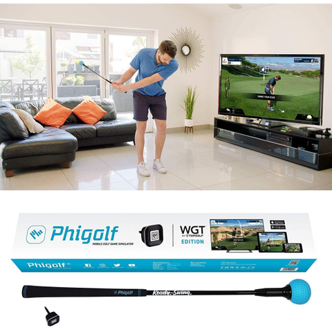 Golf Accessories | Mobile and Home Smart Golf Game Simulator with Swing Stick