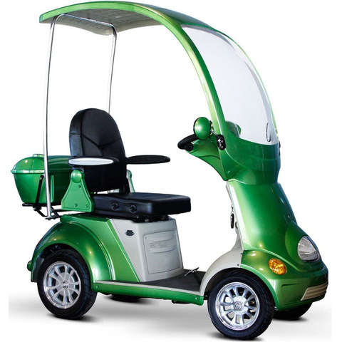 Golf Cart | Adult Electric Mobility Scooter with Roof Four Wheel, Golf Cart Scooter