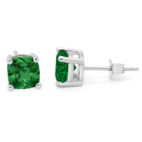 Jewelry | Emerald Cubic Zirconia Stud Earrings