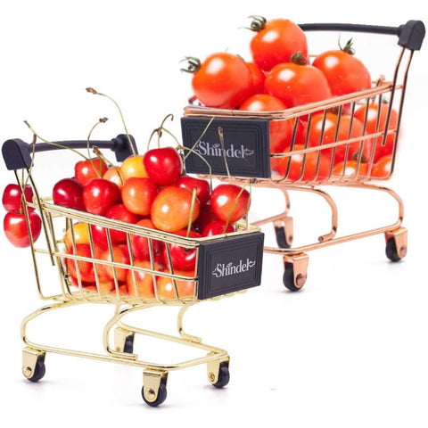Shopping Cart, 2PCS Grocery Cart Mini Supermarket Handcart Toy Shopping Carts