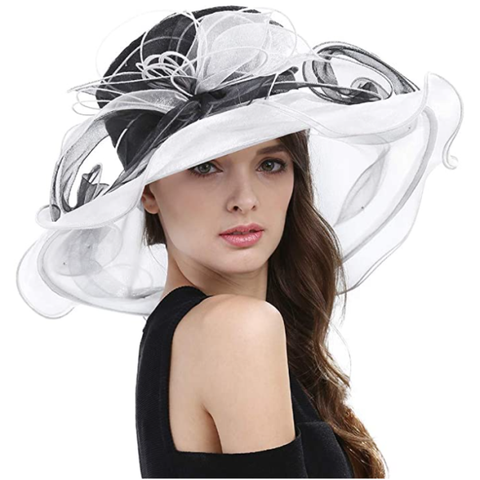 Kentucky Derby Hats | Wide Brim Sun Hat for Kentucky Derby, Church, Wedding, Tea Party
