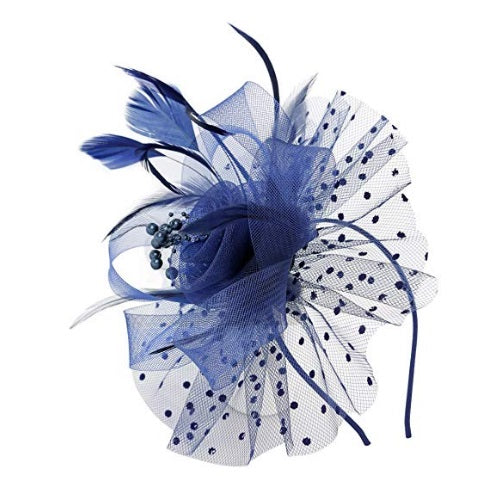 Kentucky Derby Hats | Cocktail Feather Mesh Net Veil Party Kentucky Derby Hat