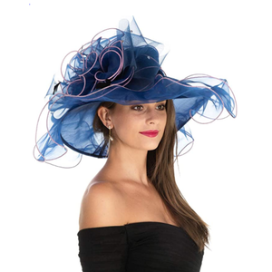 Organza Church Kentucky Derby Bridal Tea Party Wedding Hat