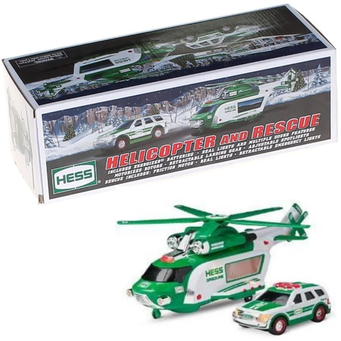 Hess Toy Helicopter and Rescue Truck