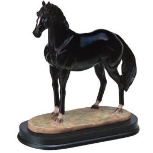 Black Horse Figurine
