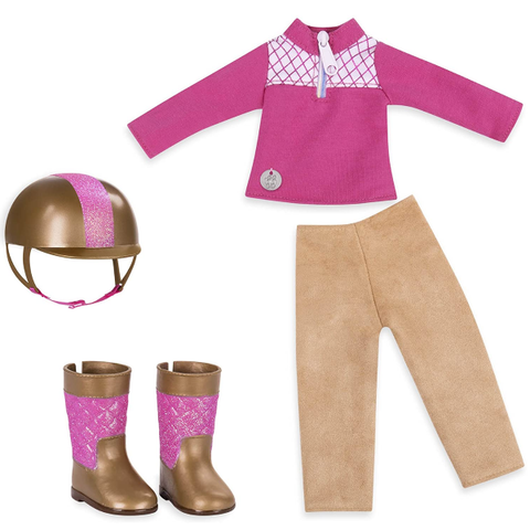 Glitter Girls by Battat | Ride & Shine Deluxe Equestrian Outfit 14 Inch Doll Clothes