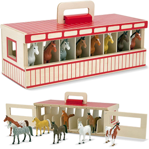 Melissa & Doug Take Along Show Horse Stable Toy