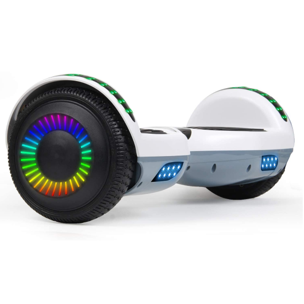 Self Balancing Hoverboard with Bluetooth Speaker and LED Lights