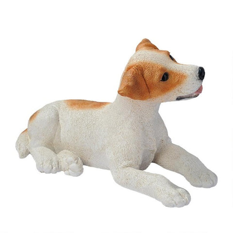 Figurines | Brown & White Jack Russell Puppy Dog Statue