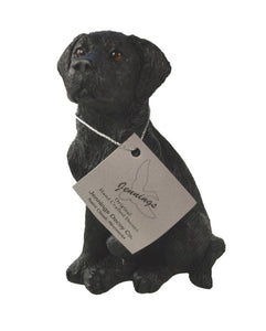 Dog Figurines | Black Labrador Retriever Dog Sculpture