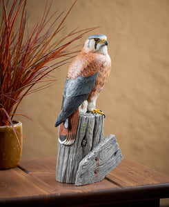 Wildlife Sculpture | Kestrel Falcon Wildlife Sculpture by Randal Martin