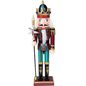 Traditional King Nutcracker Collectible Wooden Christmas Holiday Nutcracker