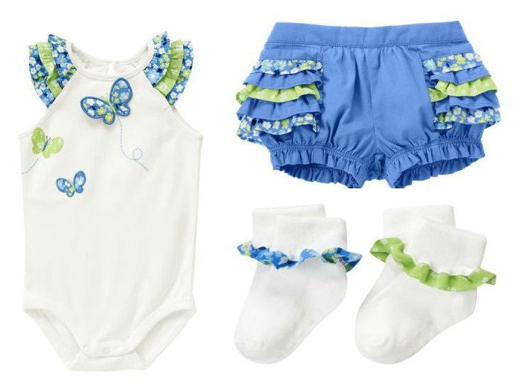 Baby Clothes | Gymboree Baby Girl Ruffle Pant Set 0-3 Months