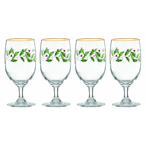 Lenox Holiday 4-Piece Iced Beverage Glass Set