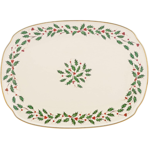 "Kitchen |  Lenox Holiday 15"" Oblong Serving Platter"