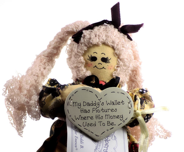 "Enesco | Li'l Gabbers Rag Doll ""My Daddy's Wallet"""