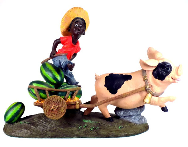 Collectibles | Black Americana Figurine Little Farmer's Lunch Express
